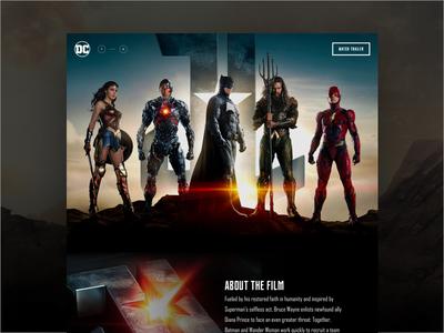 Justice League Site Concept wonder woman superman batman website comics justice league movie concept