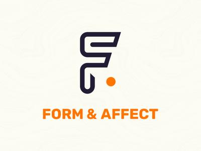 Form & Affect Rebrand agency agency branding pantone purple orange geometry design ui graphic design web design logo branding