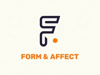Form & Affect Rebrand agency agency branding pantone purple orange geometry design ui graphic design web design logo branding