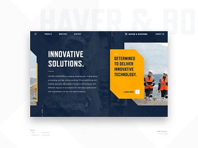 Haver & Boecker Website ecommerce equipment mining industrial website sketch branding graphic design ux ui web design
