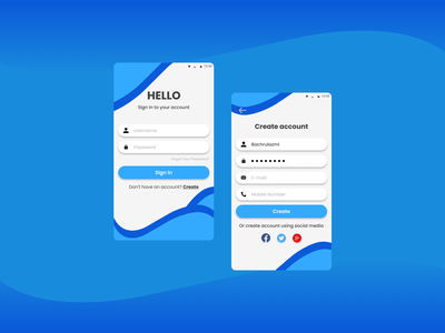 Login & Sign up screen dailyuichallenge dailyui ui design