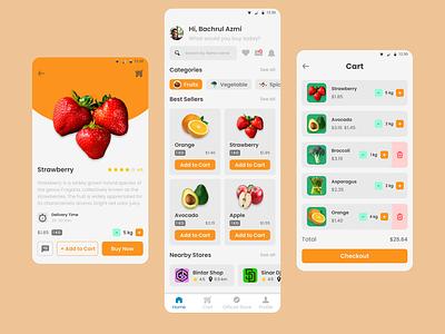 Grocery App design ux app ui design dailyuichallenge dailyui