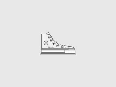 Chuck Taylors  hi tops shoes line art vector chuck taylors chucks converse vintage illustration