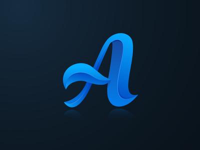 Letter A 3D modern Logo