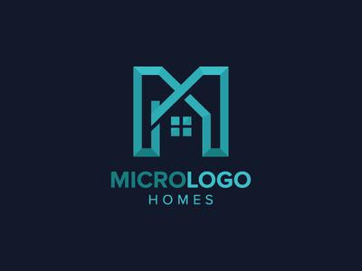 Letter M real estate Logo