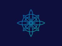 luxury  line compass ornament Logo