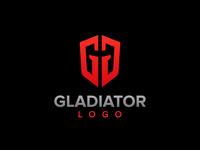 gladiator mask with letter G logo