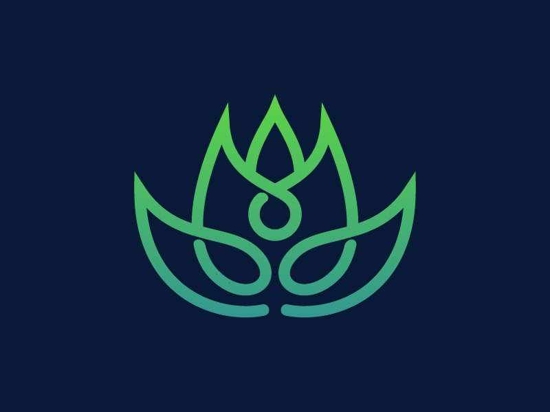 Lotus yoga flower logo concept design nature symbol leaf line beauty logo flower yoga spa lotus
