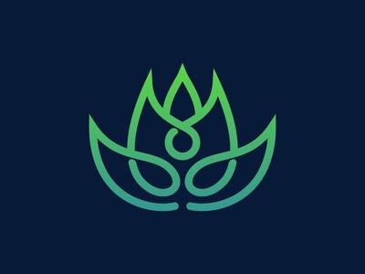 Lotus yoga flower logo
