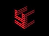 letter YC 3d Hexagon logo