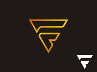 simple Letter F triangle logo