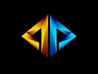 abstract 3D rhombus shape logo