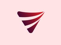 abstract speed shape logo