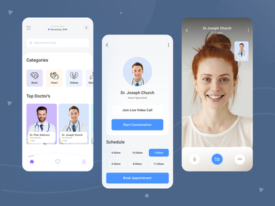 Medical Mobile App clean ui help patient therapy ux app app design application mobile ui mobile app mobile design medical care medical design doctor health healthcare medical app medicine patient app doctor appointment
