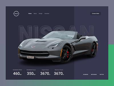 Car Landing Page 3d website design