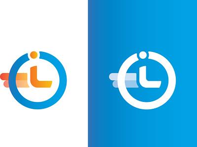 instant - Crypto Logo Design minimal brand logo logo design modern logo design clock time instant fast clean mockup branding crypto logo crypto