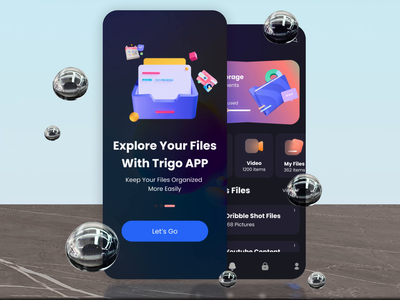 This File Management App Is Turning The Table 🔥 clean illustration minimal branding dashboad dashboard app files file manager storage app charts 3d analitycs