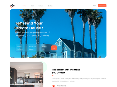 Get Excellent UI Design to Develop a Laudable Real Estate Portal app design mobile ui ux innovation minimal minimalist clean real estate home rent properties housing apartment penthouse home product property