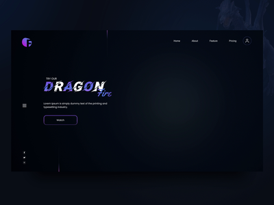👂 Heard About Mythical Creature 😯 Dragon? 🐲 ux ui design web website design website dragon landing page dragon landing page design landing design home home page homepage ui home screen homepagedesign
