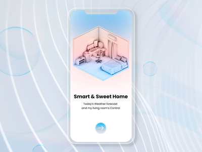 Smart Home 😎 Easy Live 😇 design interface user interface ux ui app app design home smart home house remote control home automation smart app smart devices smart home app device home monitoring control dark