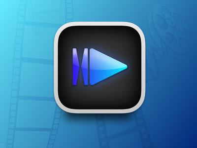 IINA modern media player for macOS Icon mac os 11 skeumorphism icns big sur macos logo branding sketchapp sketch design vector icon