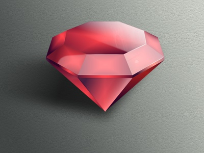 Jewel icon adobefireworks firevorks jewel vector red