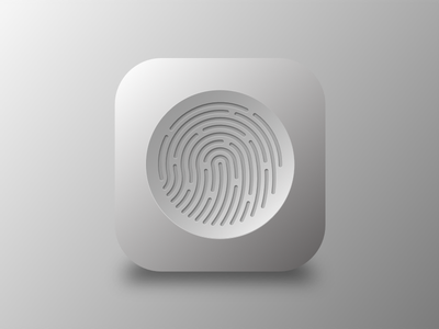 Fingerprint icon fingerprint design apple sketchapp iphone ios sketch icon