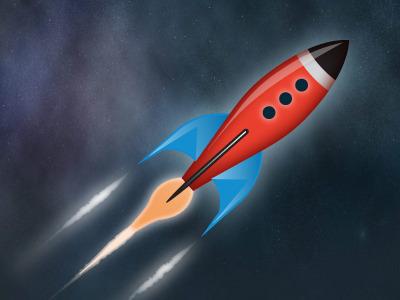 Rocket rocket illustration fireworks red blue yellow