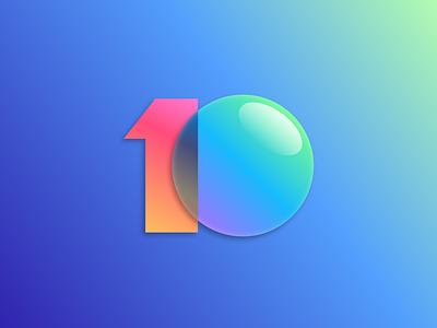 MIUI 10 Logo miui sketch app phone xiaomi android vector design logo