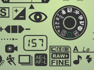 Set Camera icons camera glyphs vector icon illustrator display