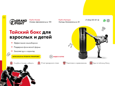 Grandfight - Landing page animation web ux ui design