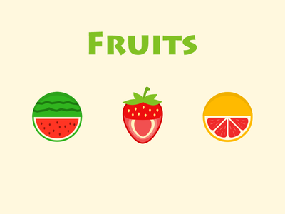 Fruits ui gui ai fruit watermelon orange strawberry