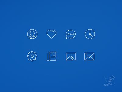 Post Bar's icon kit blue gui icon ui