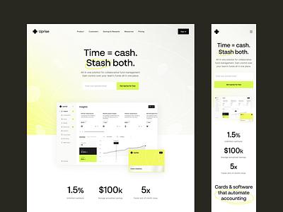 Finance Management: Product Landing Page finance website saas website marketing website saas design product website product page landing page website design