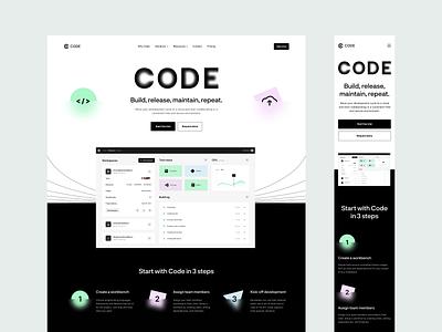 Platform for Developers: Product Main Page development platform digital product saas design product website product page landing page website design