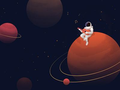 Starman spaceman space mars illustration davidbowie astronaut