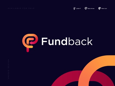 Fund back Modern Logo Concept transfer payment service investment online payment account finance logo fund logo fund transfer f modern logo online banking modern payback pay app payment logo branding brand identity modern logo back arrow logotype fund
