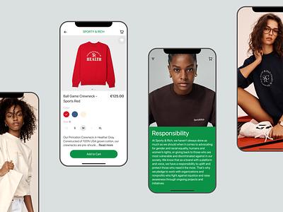 E-commerce App / Sporty & Rich Concept branding ui minimal design app