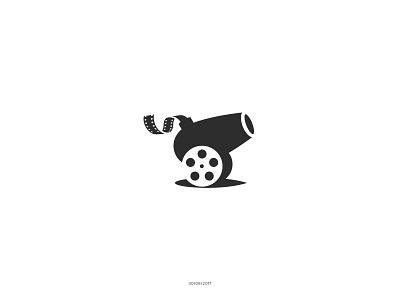 Little Cannon mark negativespace illustration logo brand filmfestival entertainment reel film festival movie cannonball cannon