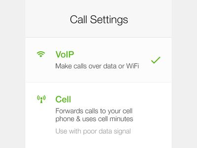 iOS Settings Modal