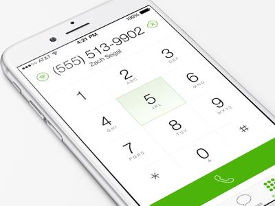 Mobile App Keypad (Dialer)