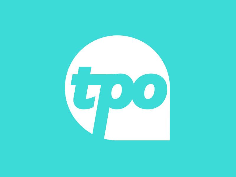 TPO Rebrand teal typography mark vector logo branding
