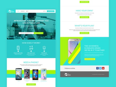 Homepage phone company homepage website ui visual design