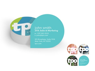 TPO Business Card Concept graphic design dynamic print identity stationary business cards