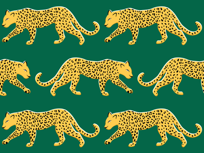 Pattern of the Year 2019 print spots society6 textile green emerald 2019 pattern of the year pattern leopard editorial illustration apartment therapy
