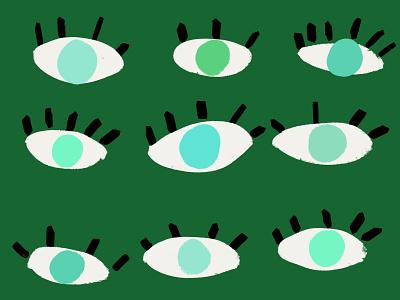 Bando Color Week whimsical drawing illustrations kids body forest dark green mint green mint blue cute eye eyelashes eyeballs eyes