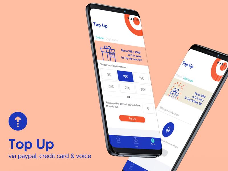 WIND myQ mobile app - Top Up telco ui app android topup mobile design mobile app mobile