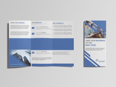 Trifold Brochure branding modern brochure unique brochure illustration flyer print trifold brochure leaflet design brochure
