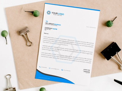 Letterhead letter letterhead template illustration template print branding design stationery design letterhead design letterhead