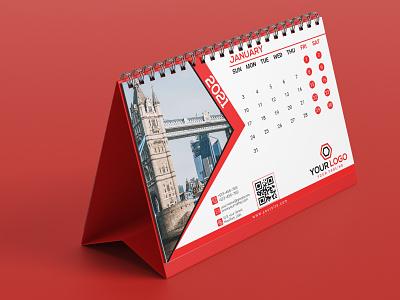 Desk Calendar calendar mockup print design desk calendar calendar design calendar illustration template print branding design